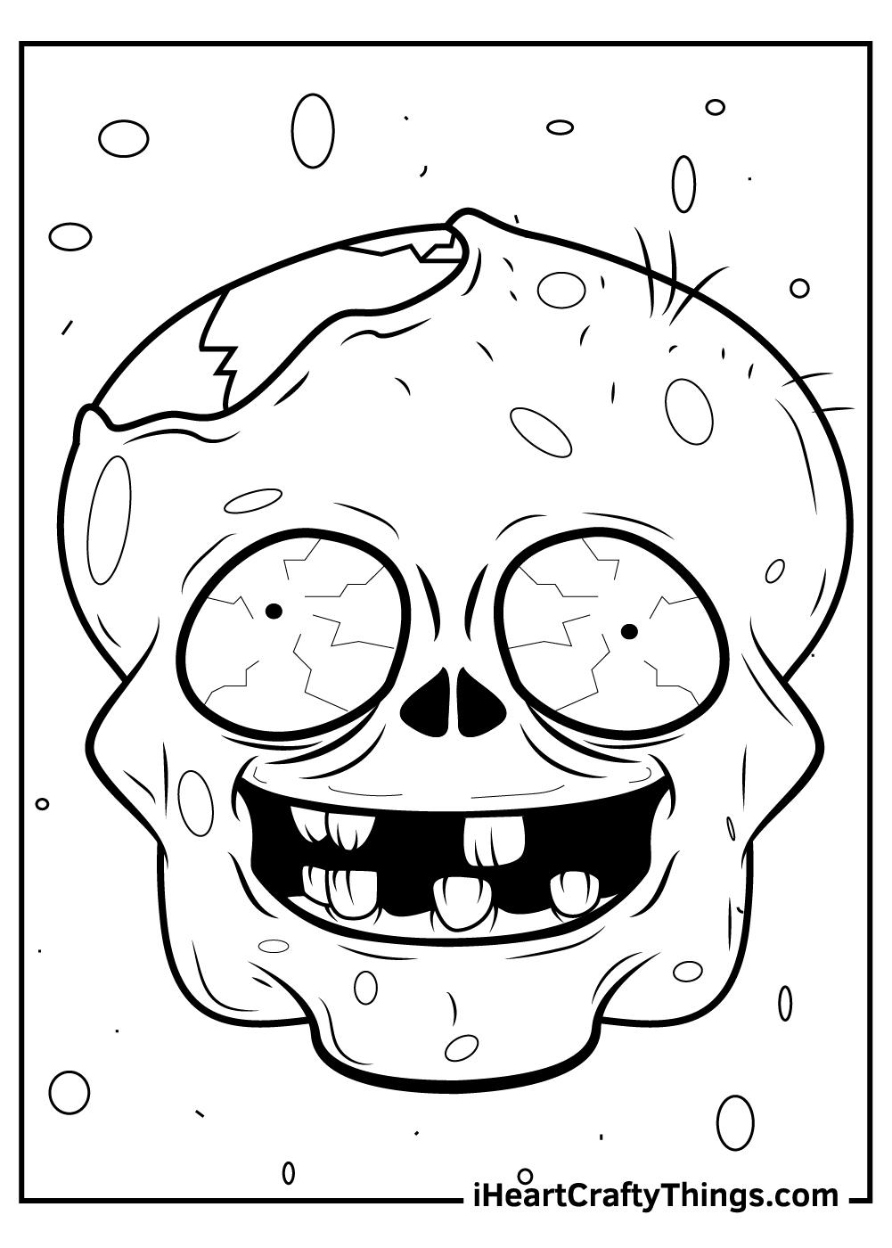 black and white zombie free printout sheet