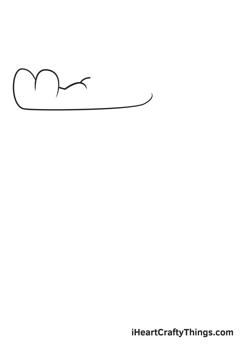 Alligator Drawing – Step 1