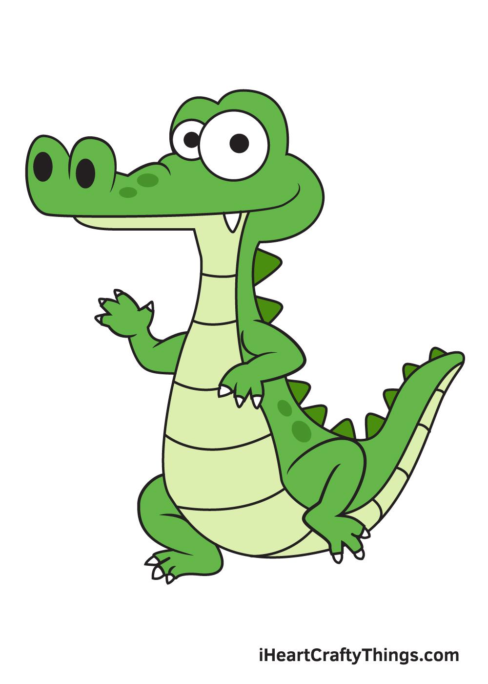 Alligator Drawing – 9 Steps