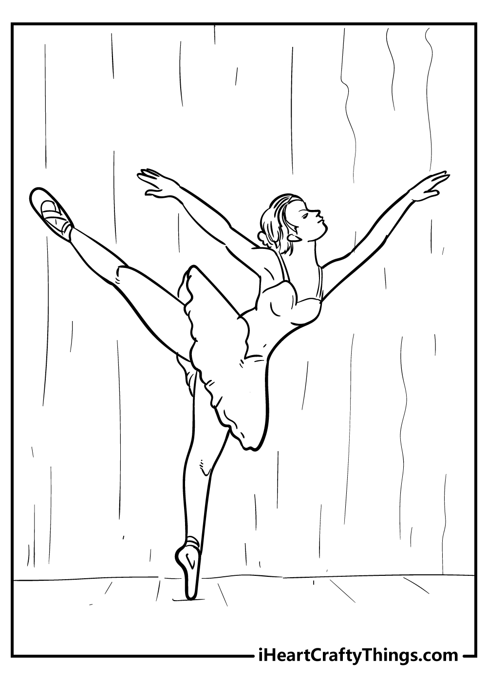 adult ballerina dancing coloring pages free printables