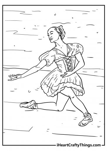 ballet coloring images