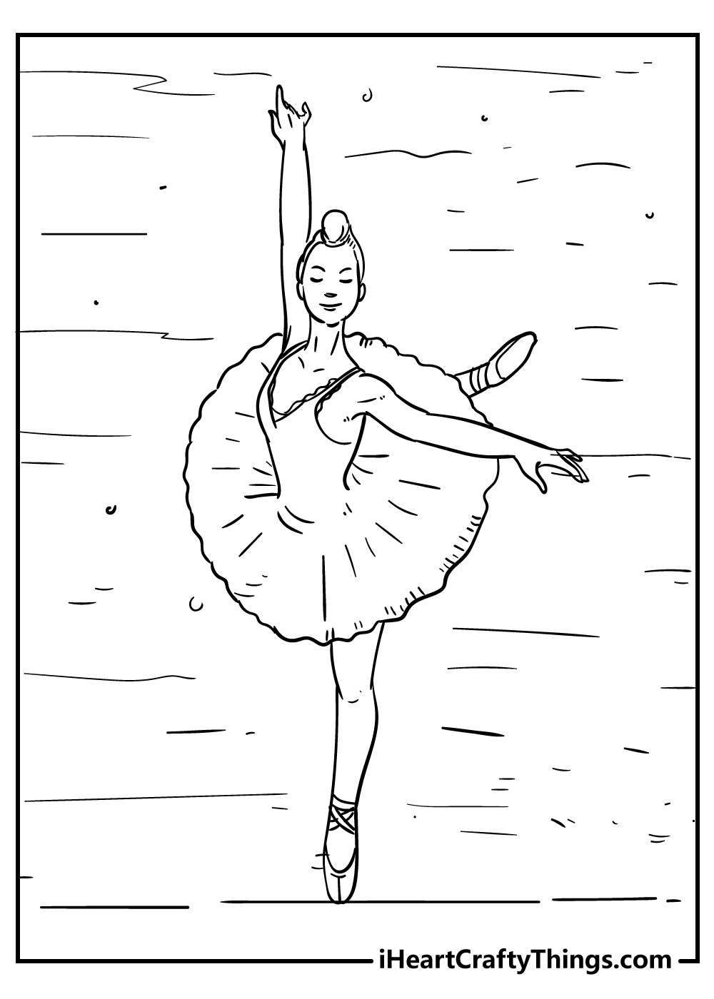 ballerina coloring pages for kids free printables