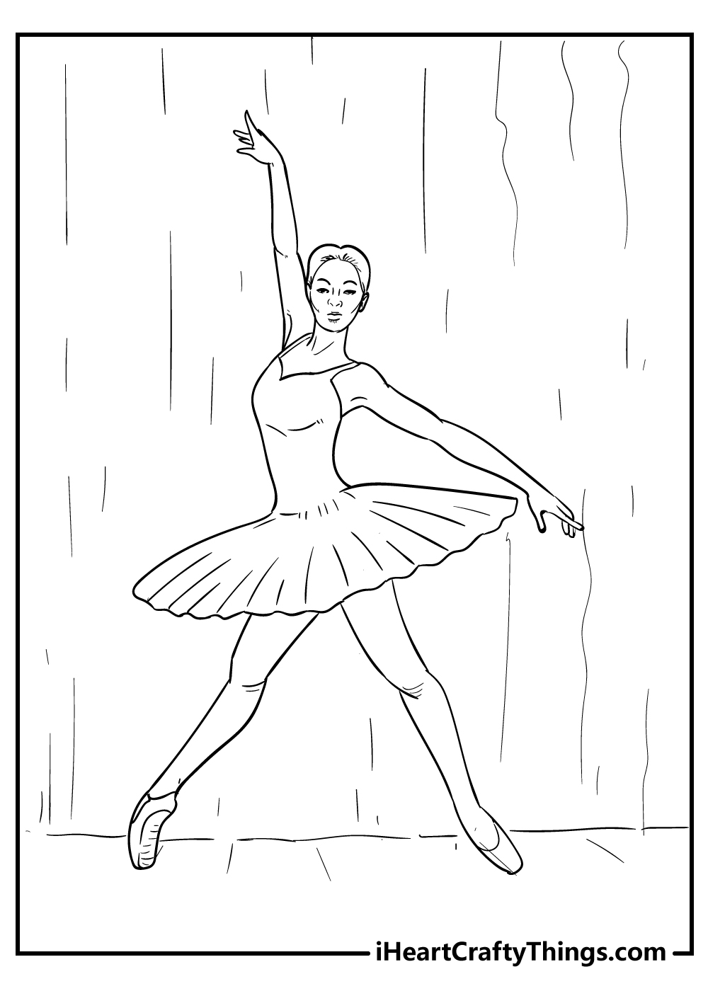 free ballet coloring images for kids