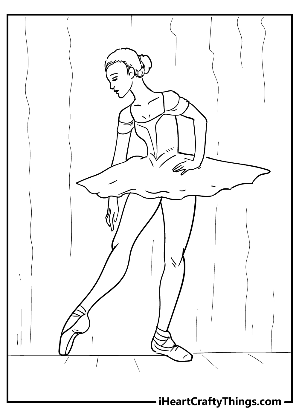 adult ballerina coloring pages free printables