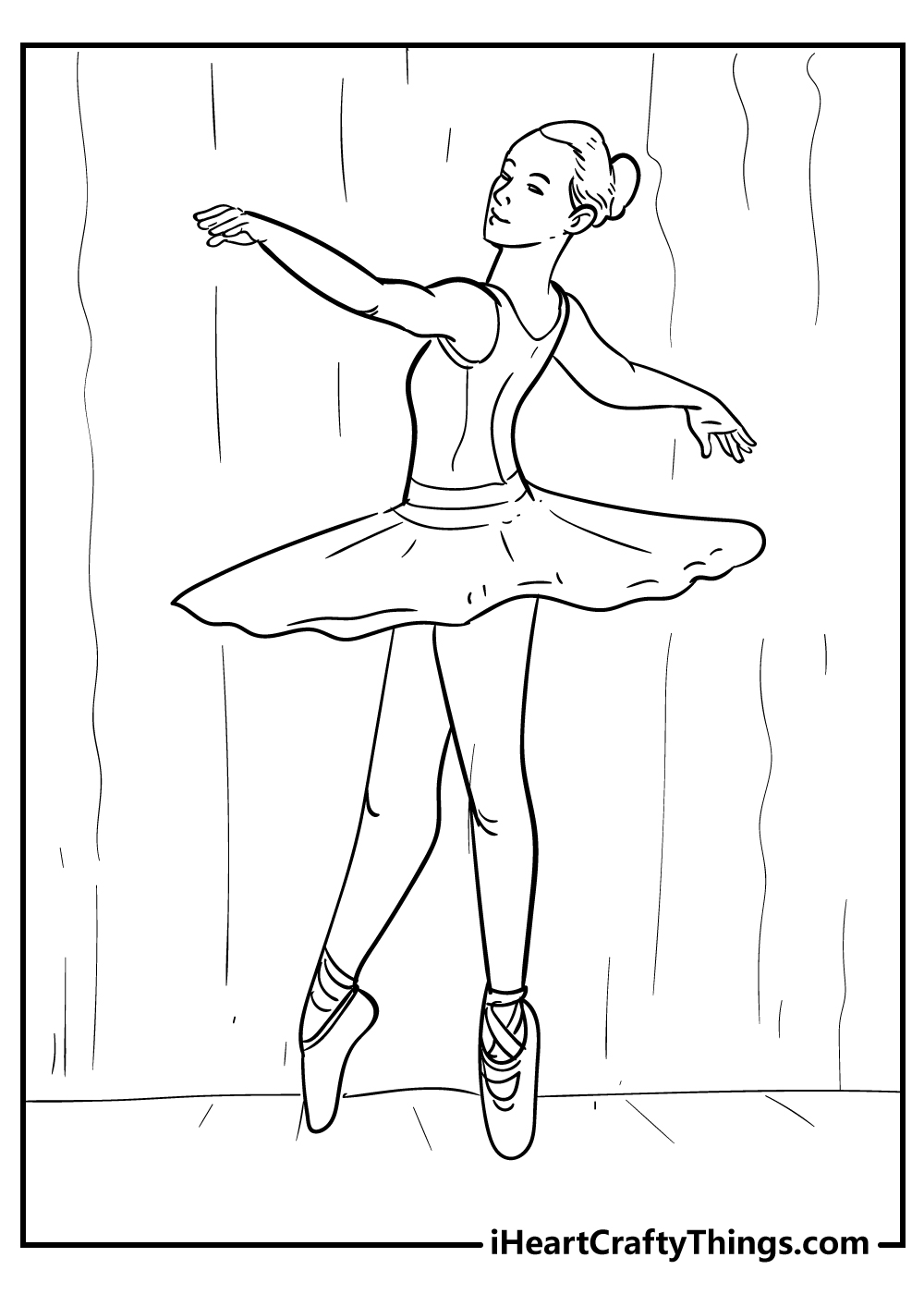 teenage ballerina coloring pages free printables