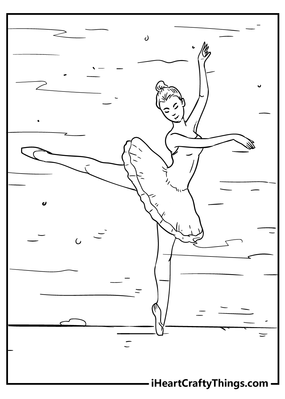 beautiful ballerina coloring pages free printables
