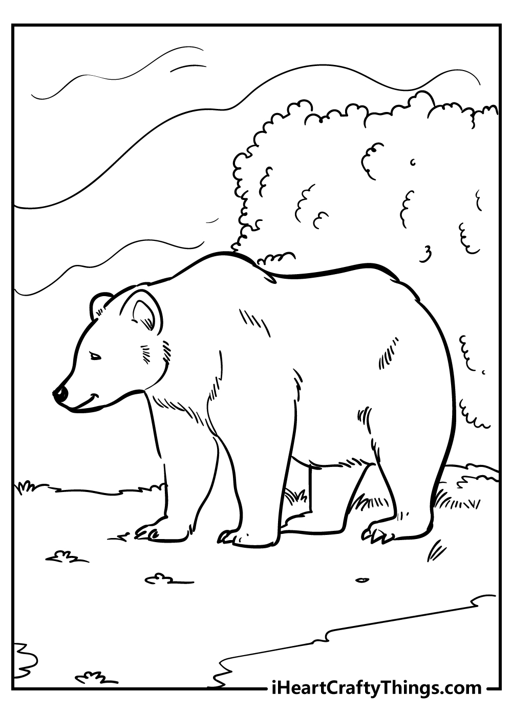 big bear coloring pages free printables