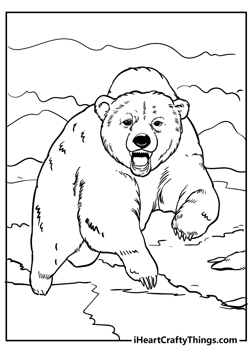 angry bear coloring pages free printables