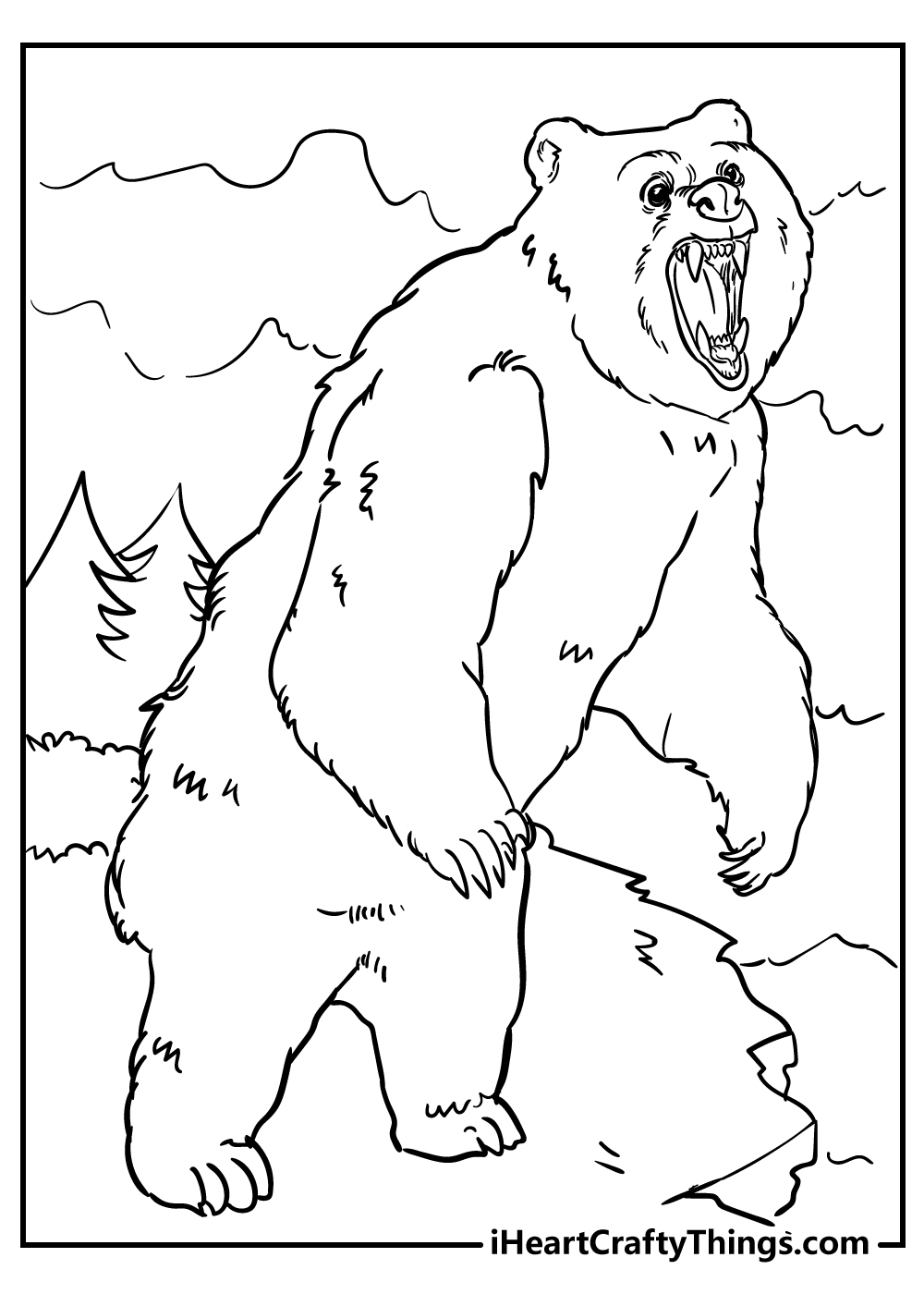 furious bear coloring pages free printables