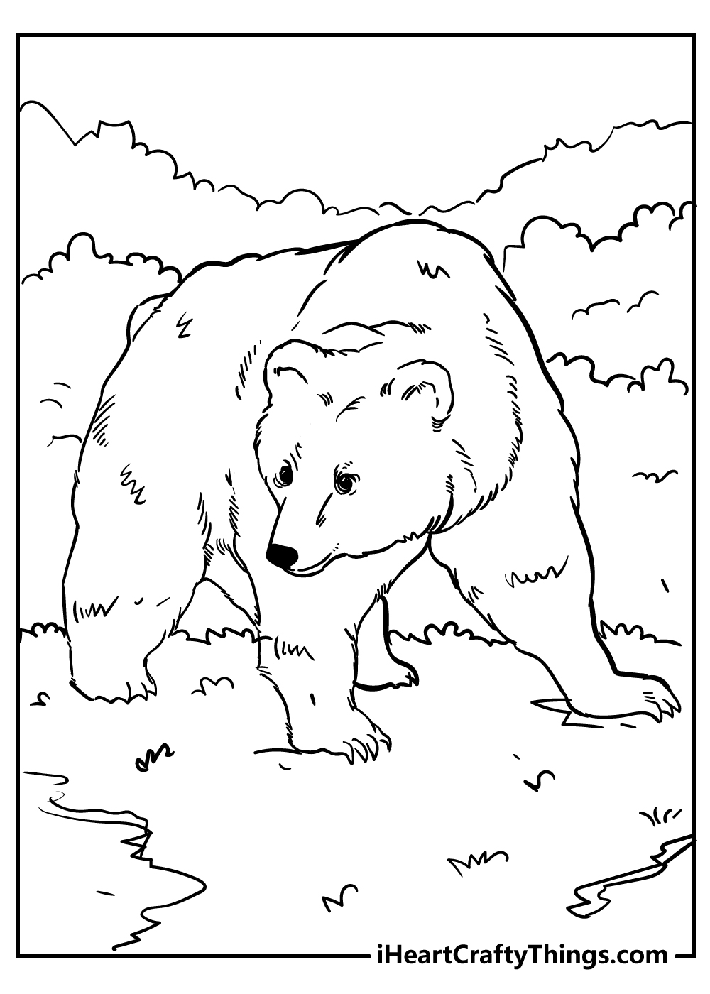 adult white bear coloring pages free download