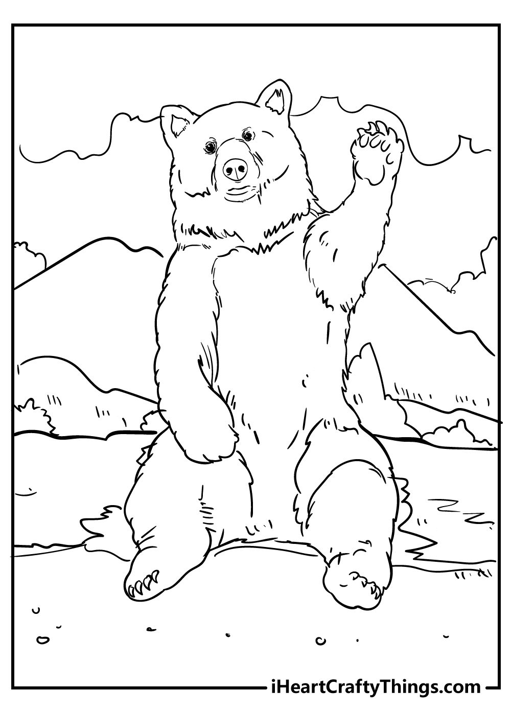 adult polar bear coloring pages free printables