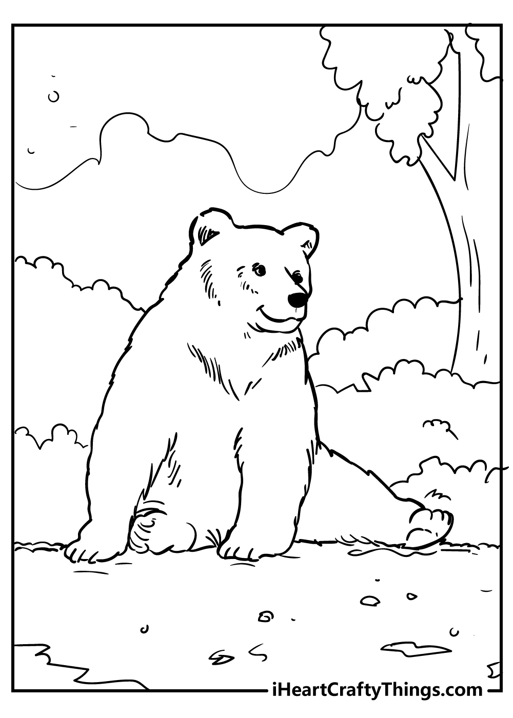 bear coloring pages for preschoolers free download
