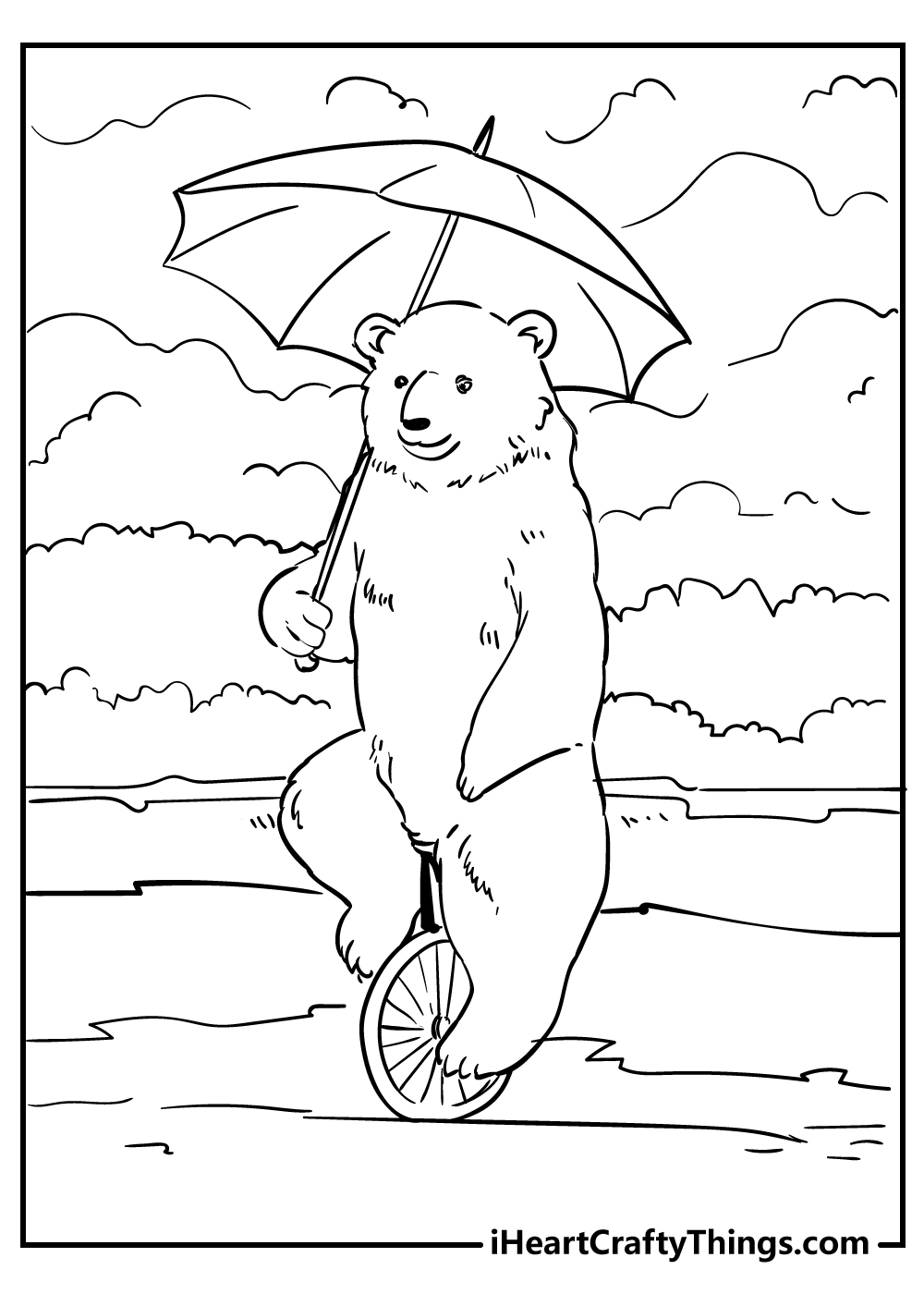 circus bear coloring pages free download