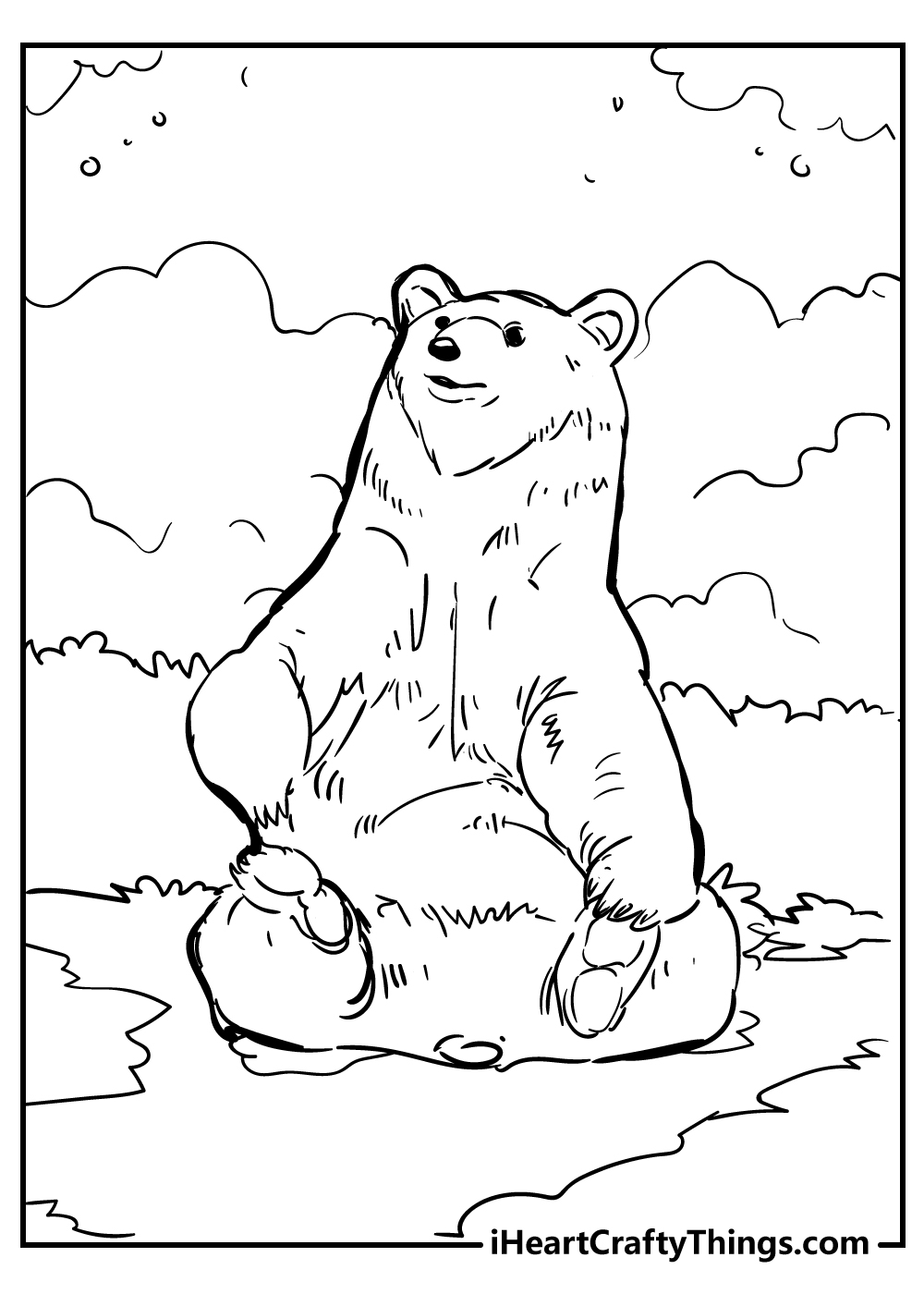grown bear coloring pages free download