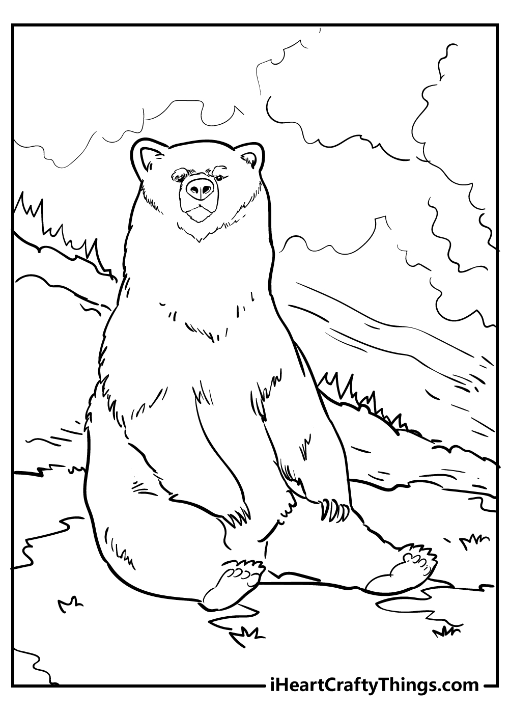 angry adult bear coloring sheets free download