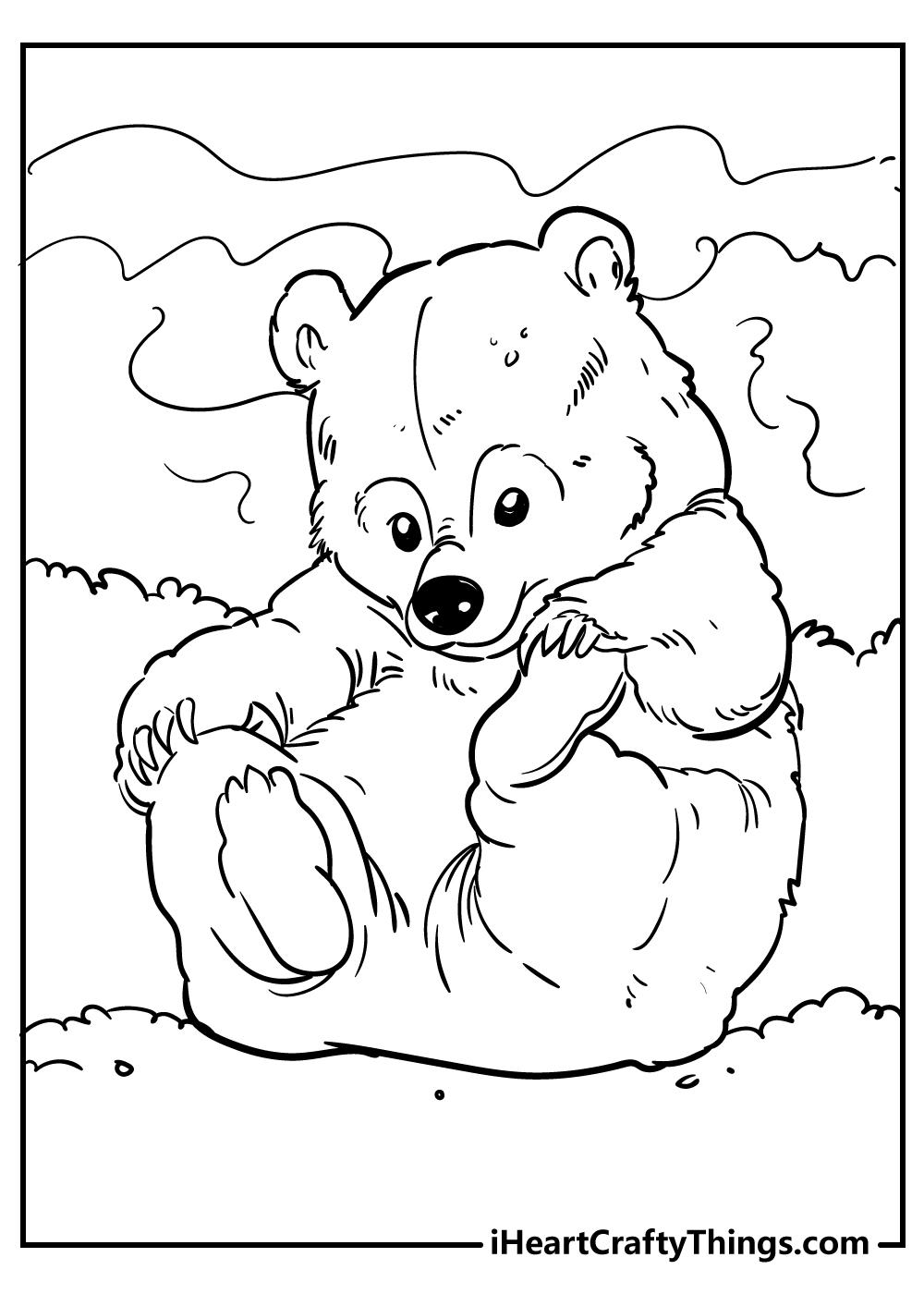 cute little bear coloring pages free printables