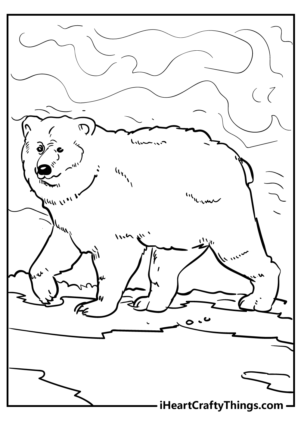 serious bear coloring pages free print out