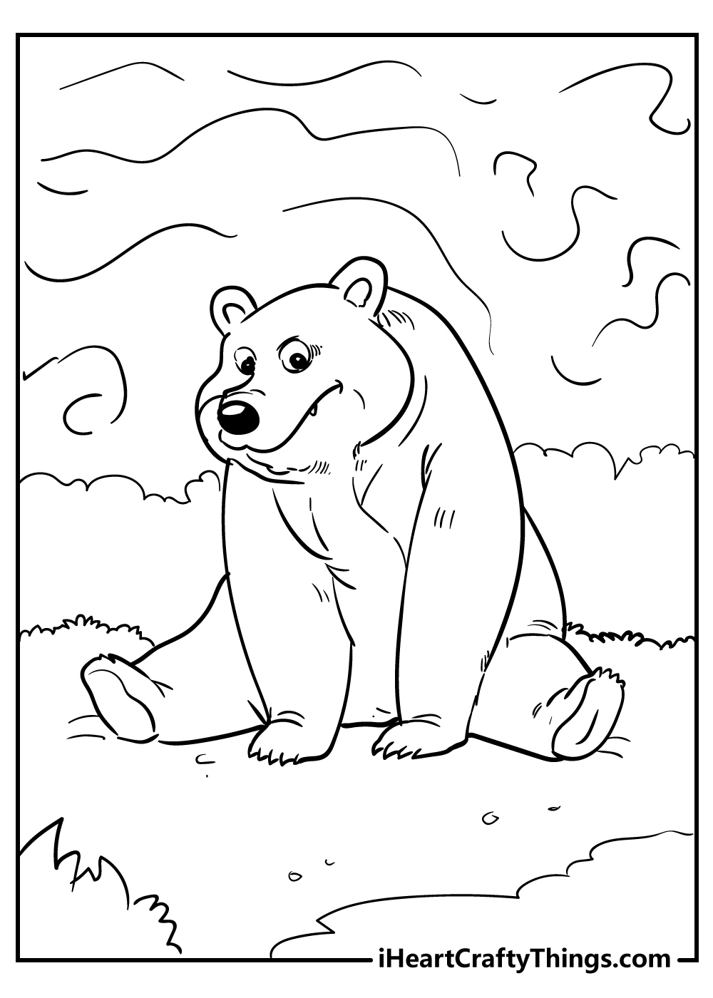 cartoon bear coloring pages free printables