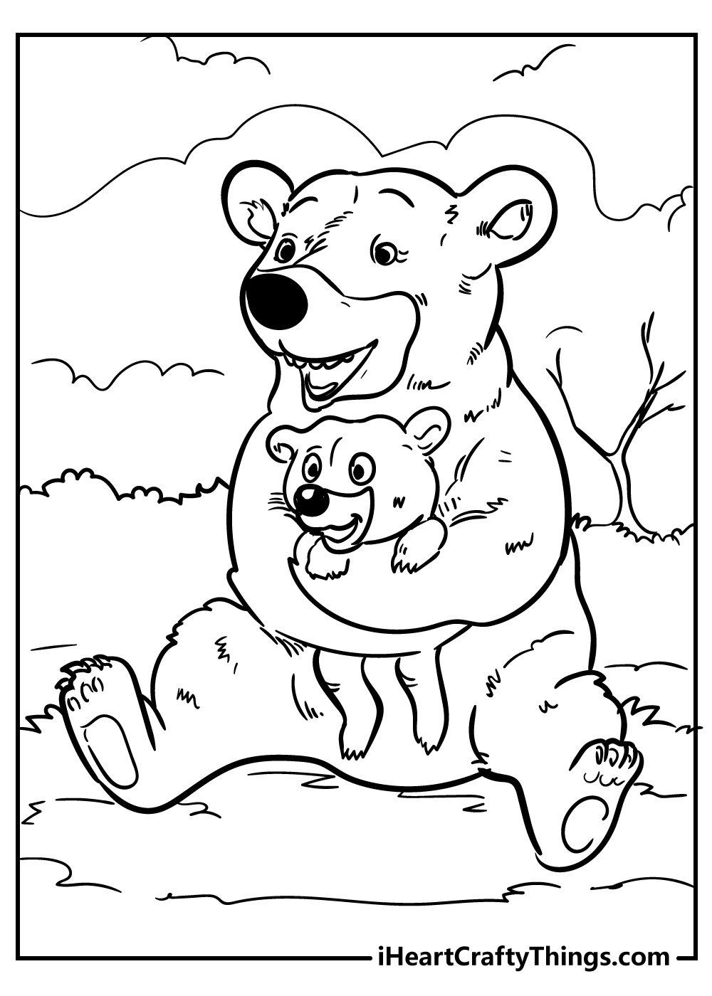 smiling bears coloring pages free printables