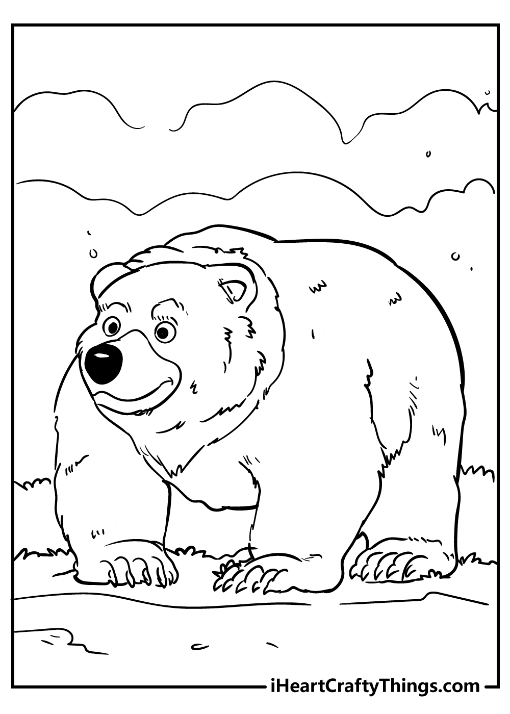 funny bear coloring pages free download