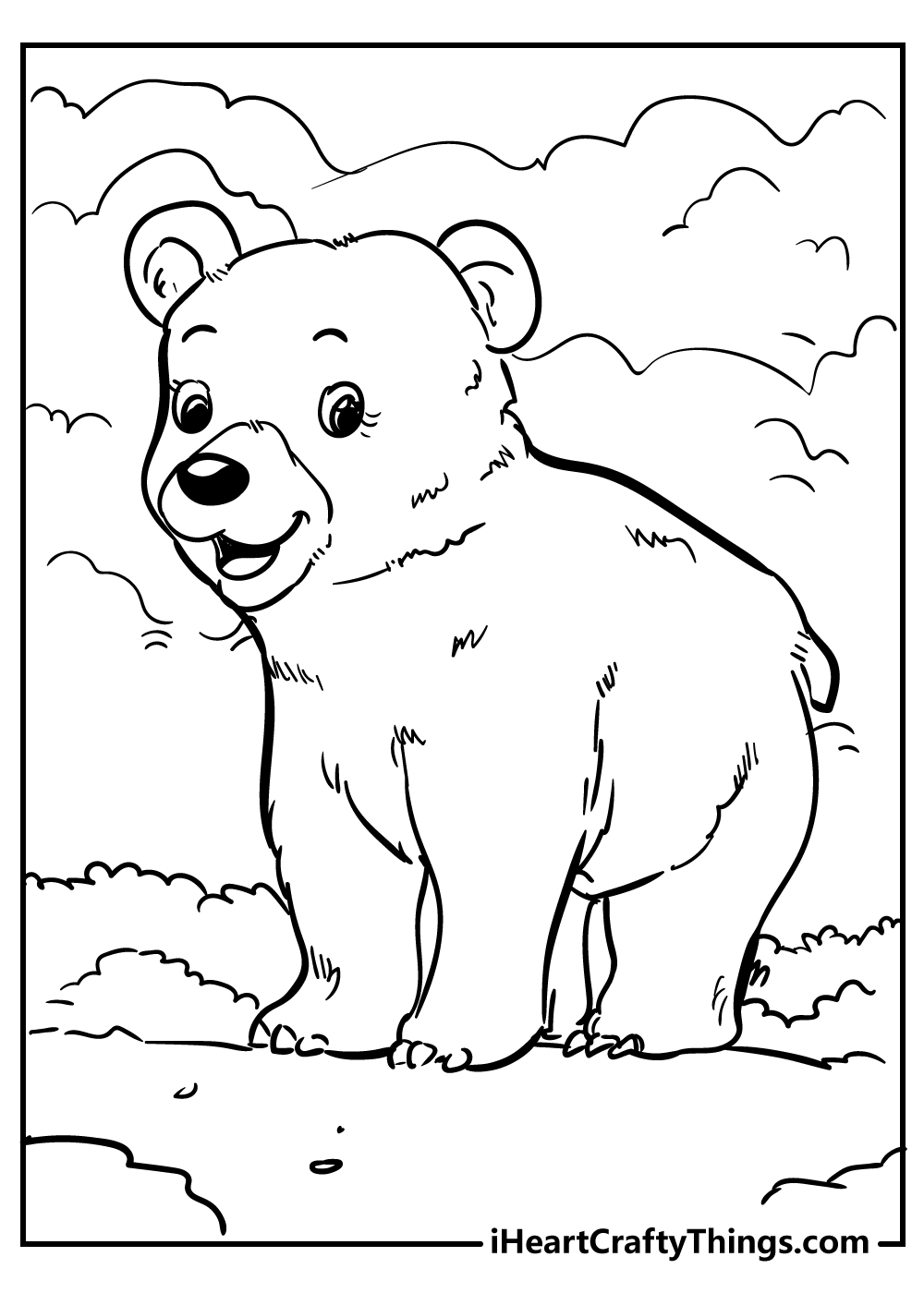 smiling bear coloring pages free download