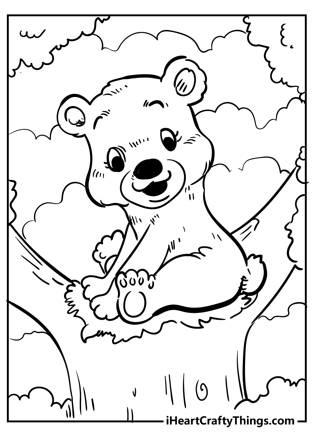 cute little funny bear coloring pages free printables