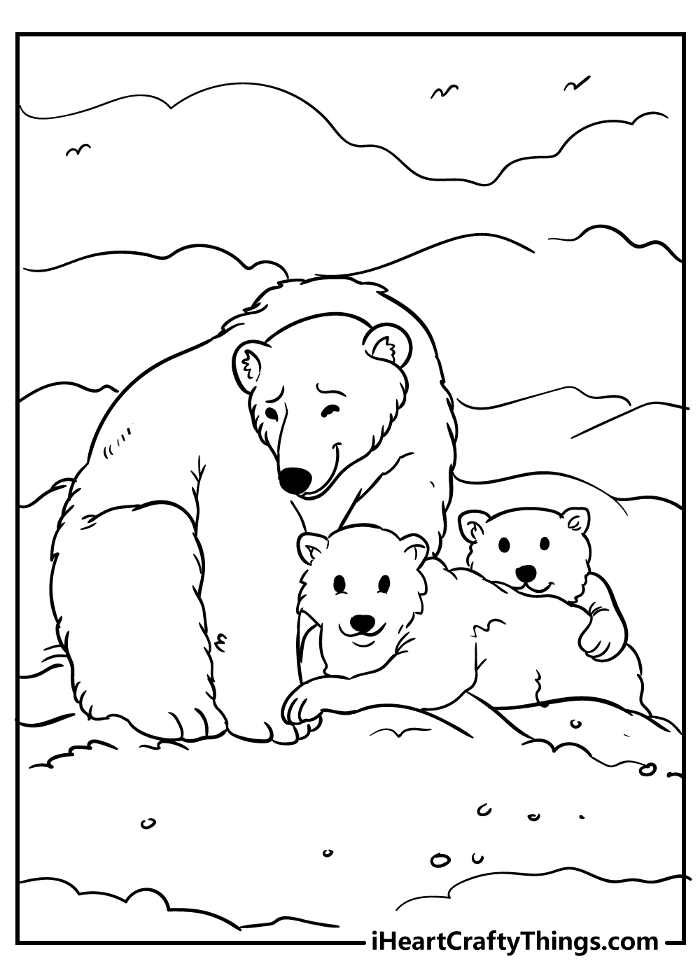 sweet bear family coloring pages free download