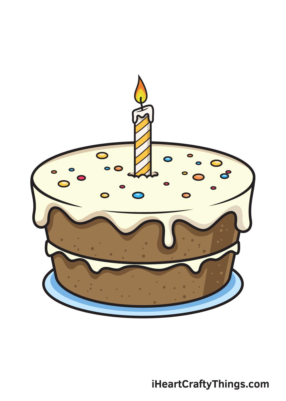 Birthday Cake Drawing – 9 Steps