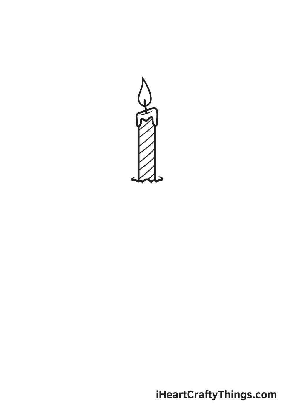 Birthday Cake Drawing – Step 3
