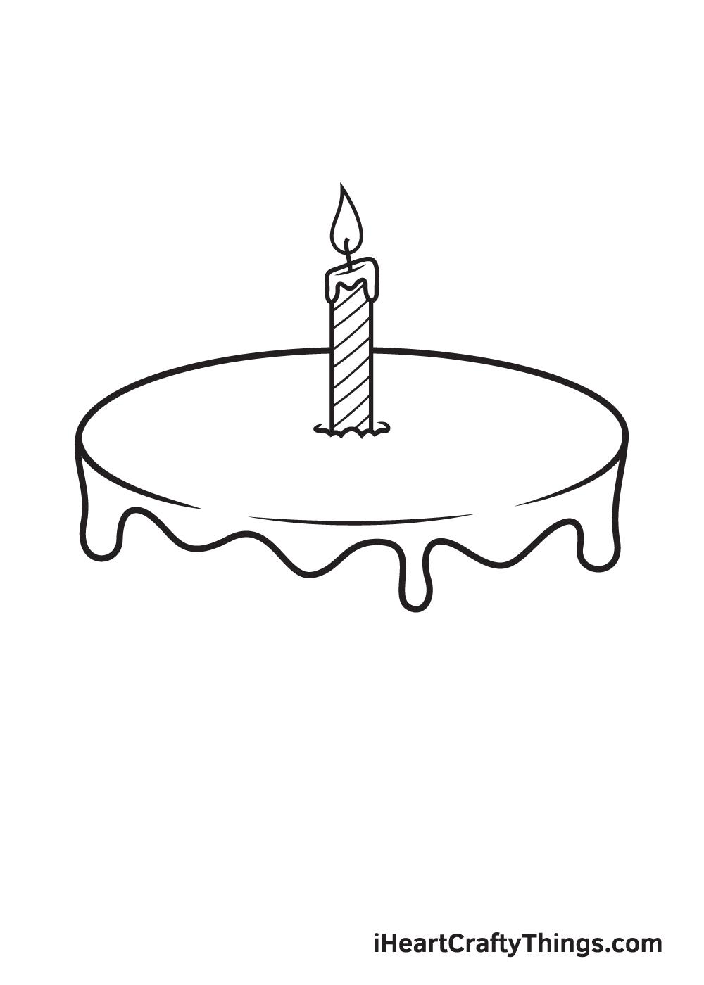 Birthday Cake Drawing – Step 4