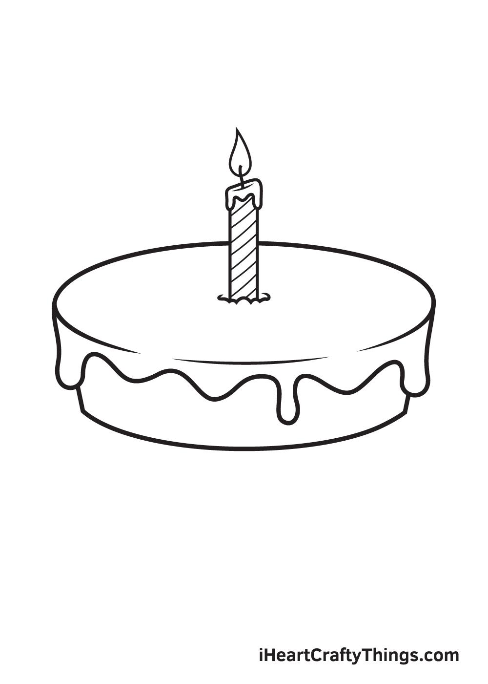 Birthday Cake Drawing – Step 5