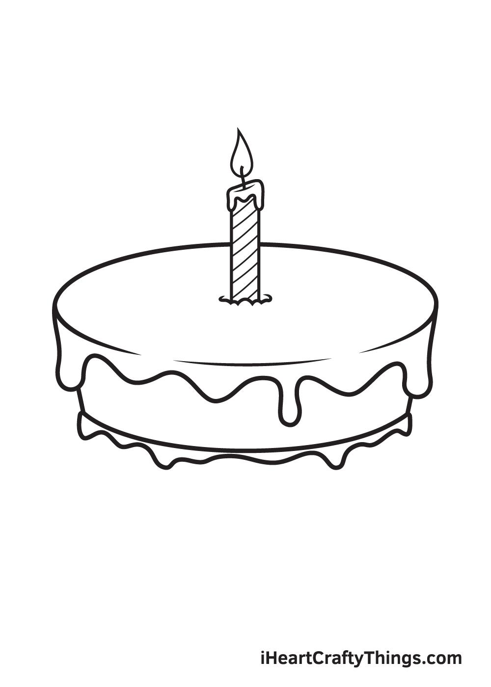 Birthday Cake Drawing – Step 6