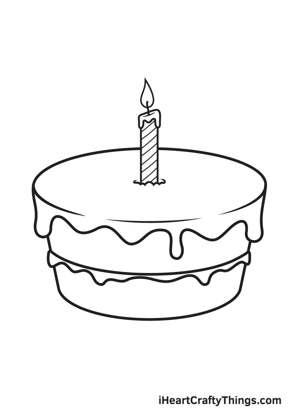 Birthday Cake Drawing – Step 7