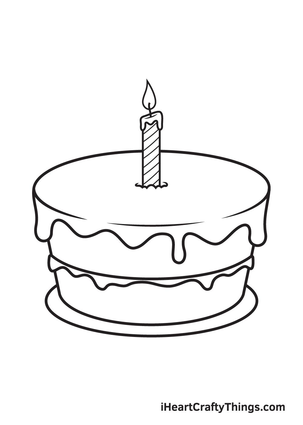 Birthday Cake Drawing – Step 8