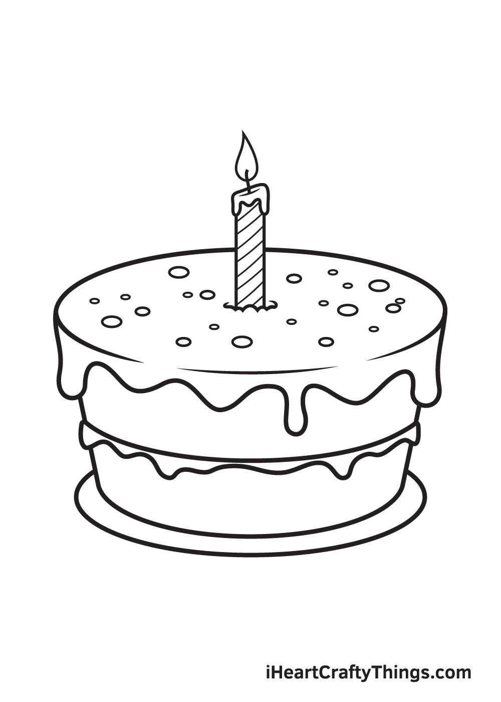 Birthday Cake Drawing – Step 9