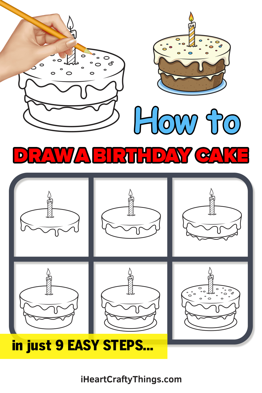 Birthday Cake Drawing Pin
