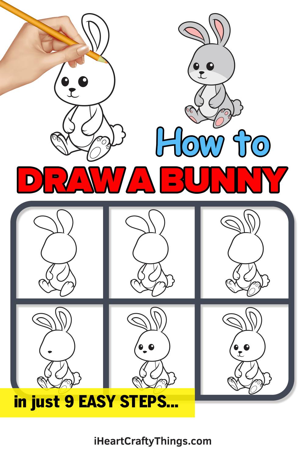 How to Draw a Bunny in 9 Steps