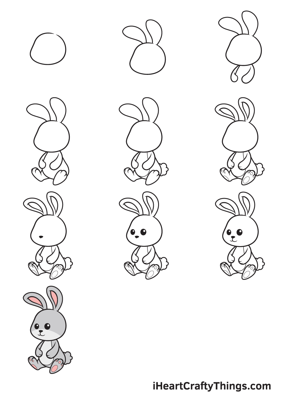 Drawing Bunny in 9 Easy Steps