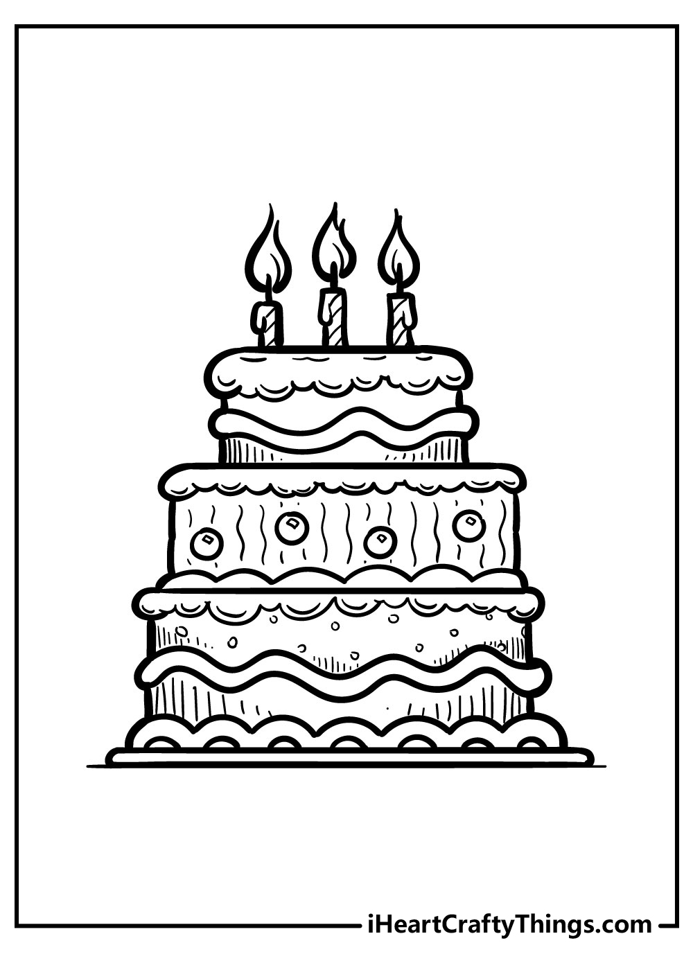 cake coloring pages free printables