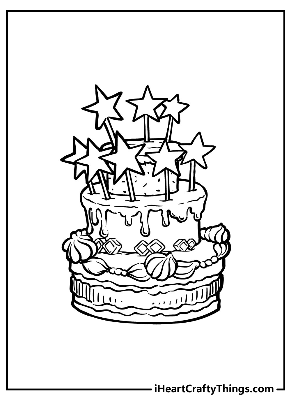 birthday cake coloring pages preschoolfree download