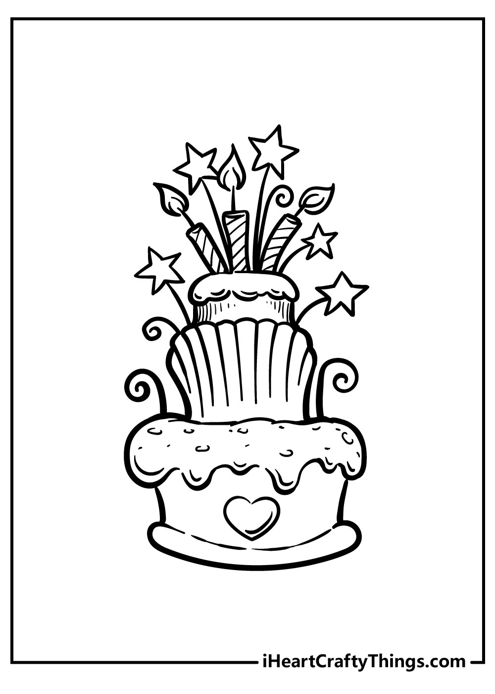 shopkins birthday cake coloring pages