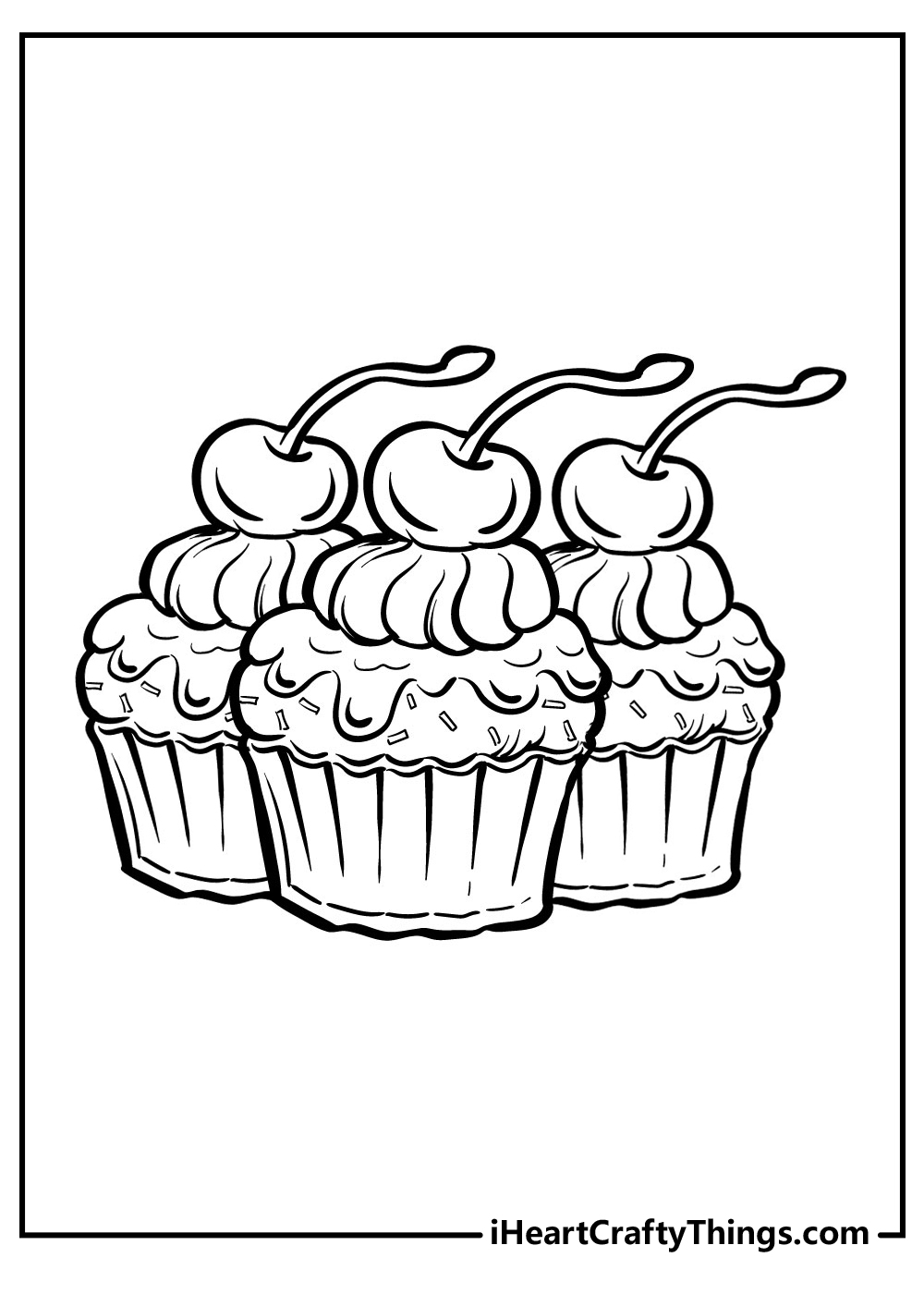 cup cake coloring pagesfree printables
