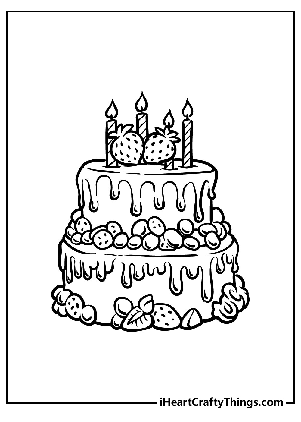free birthday cake coloring pages
