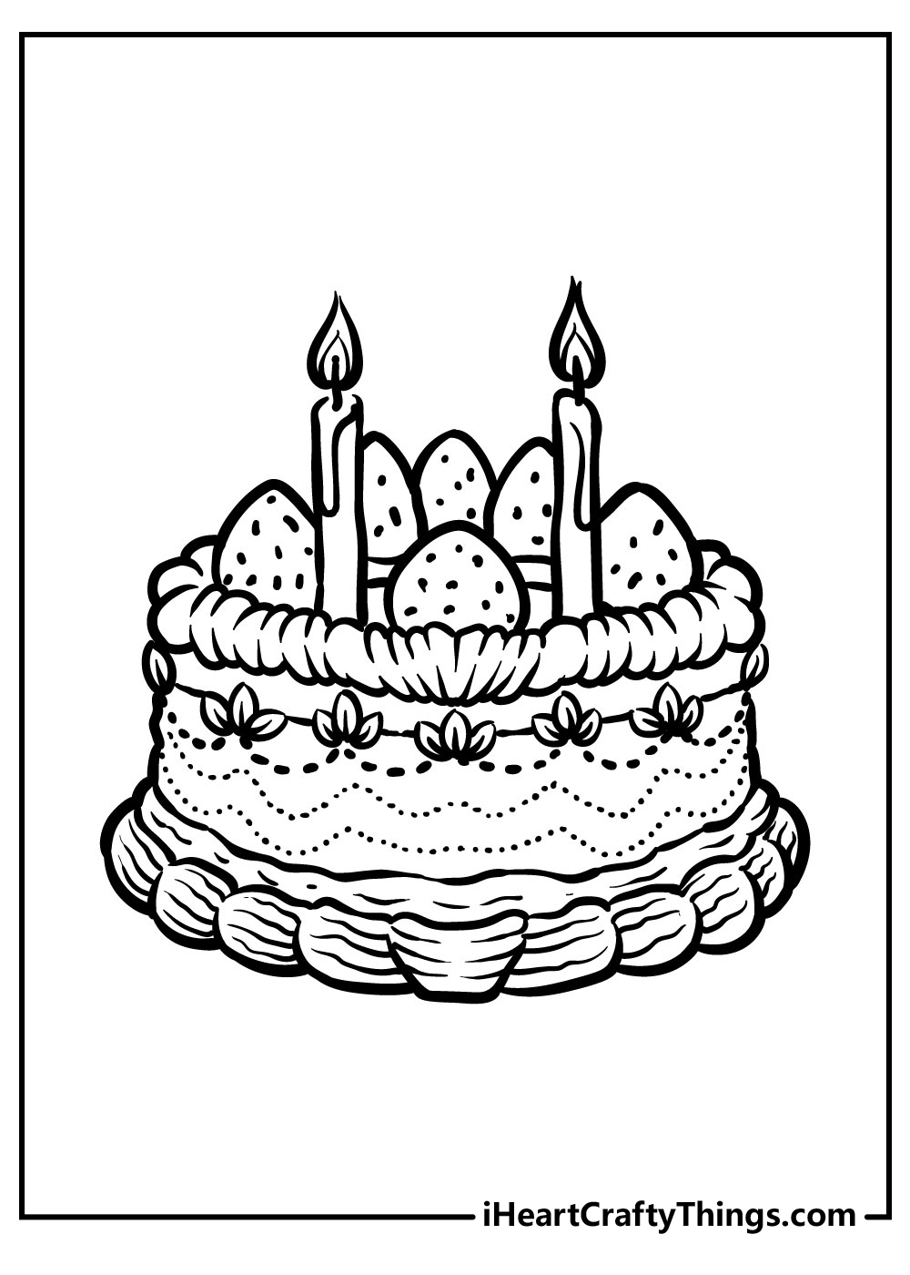 vintage christmas cake coloring pages