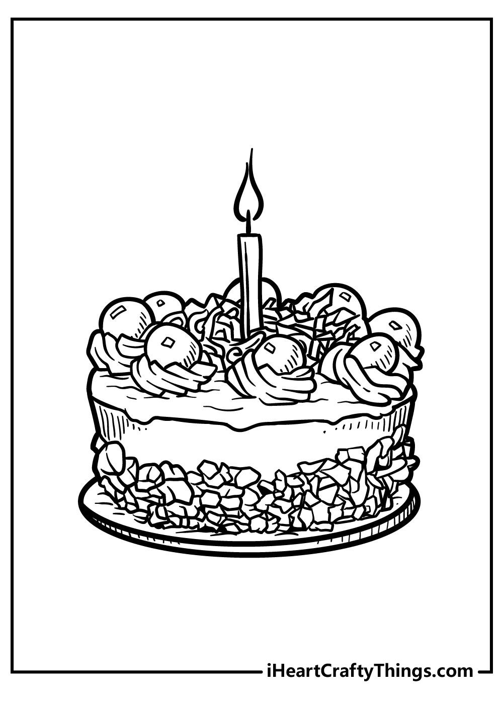 small cake coloring pages free printables