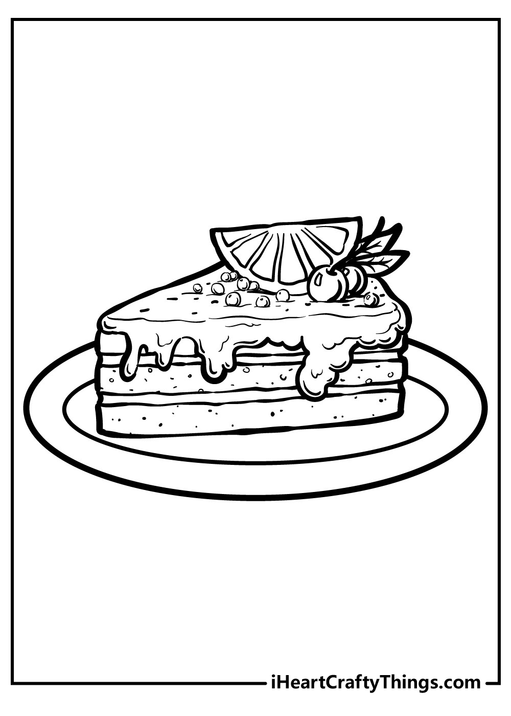 cake coloring pages free and printable