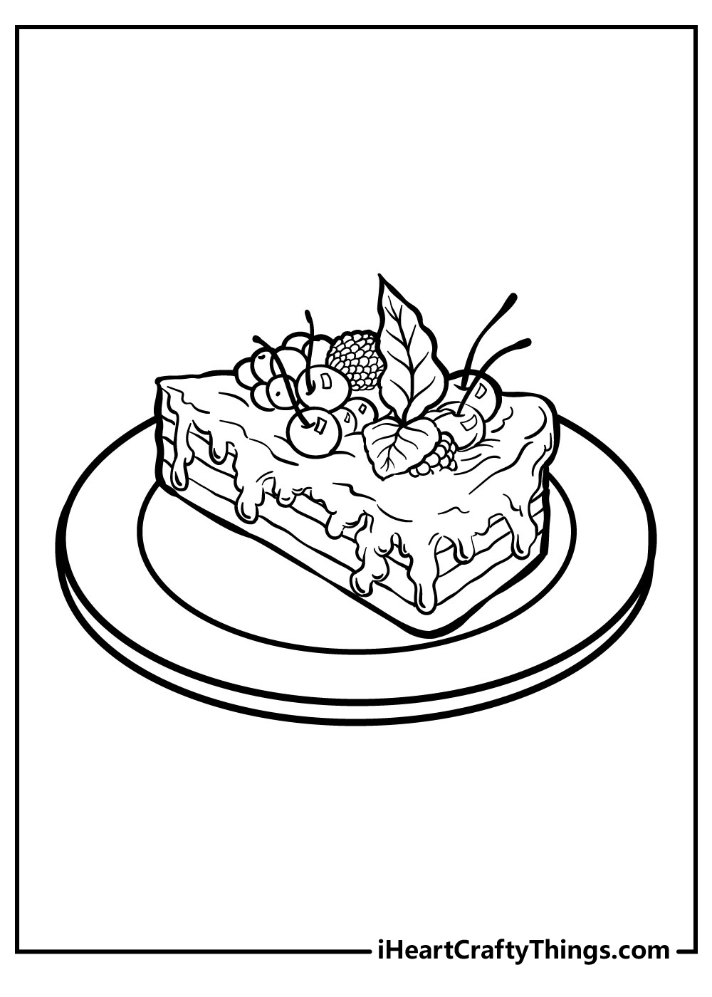 wedding cake slice coloring pagesfree printables