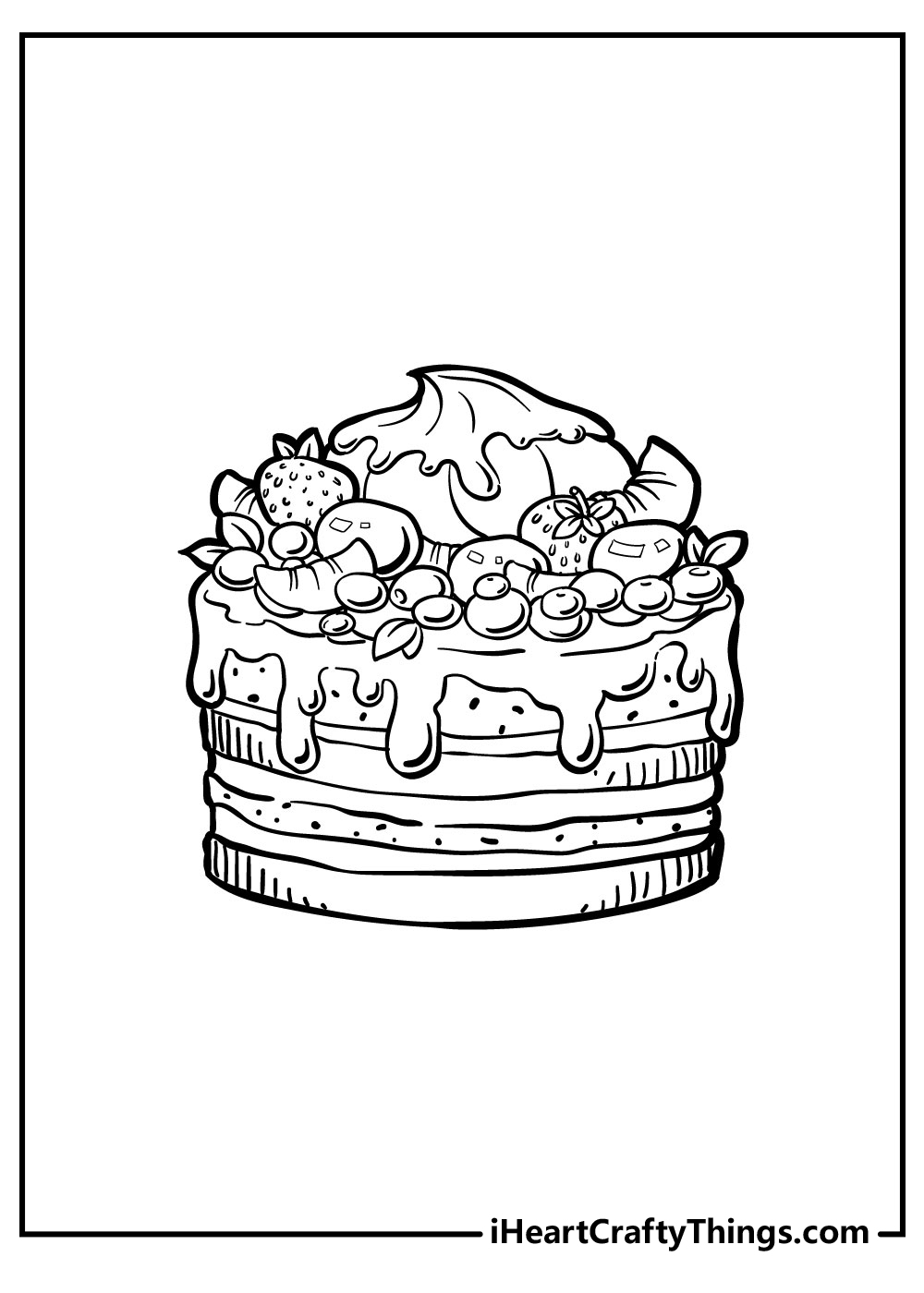 birthday cake coloring pages for kids free download