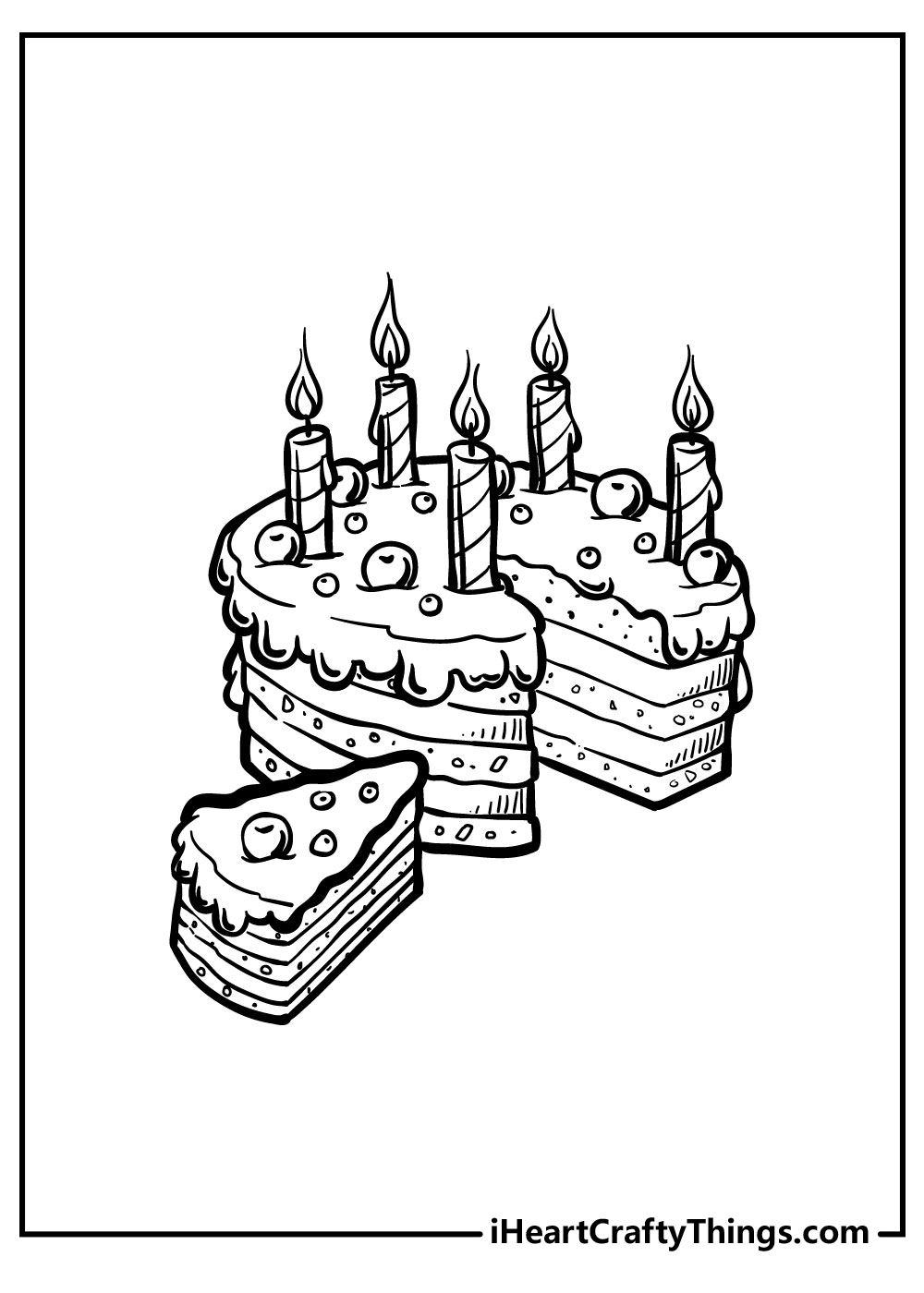 cute cake coloring pages to print