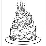cake coloring image